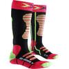 X-Socks Ski Socks Juniors Coral/Green